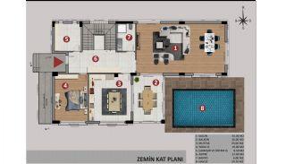 Antalya Döşemealtı'nda Özel Havuzlu Müstakil Dubleks Villalar, Kat Planları-1
