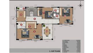 Antalya Döşemealtı'nda Özel Havuzlu Müstakil Dubleks Villalar, Kat Planları-2