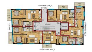 Flats for Sale in Muratpaşa Walking Distance to Kaleiçi, Property Plans-1