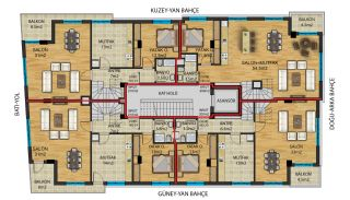 Flats for Sale in Muratpaşa Walking Distance to Kaleiçi, Property Plans-3