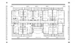 Alanya Oba'da Şehir Merkezinde Satılık Daireler, Kat Planları-1