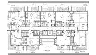 Alanya Oba'da Şehir Merkezinde Satılık Daireler, Kat Planları-3