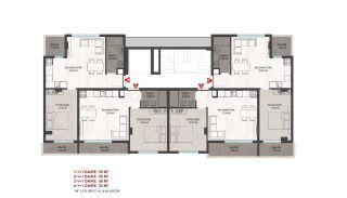 Heldere appartementen in Alanya dicht bij de oude stad Naula, Vloer Plannen-1
