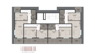 Heldere appartementen in Alanya dicht bij de oude stad Naula, Vloer Plannen-2