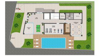 Heldere appartementen in Alanya dicht bij de oude stad Naula, Vloer Plannen-3