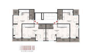 Heldere appartementen in Alanya dicht bij de oude stad Naula, Vloer Plannen-4