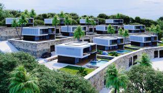 Vrijstaande villa's met zee- en stadszicht in Alanya Bektaş, Alanya / Bektas - video
