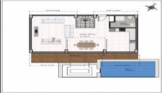 Vrijstaande villa's met zee- en stadszicht in Alanya Bektaş, Vloer Plannen-1
