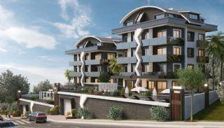 Maisonette Wohnungen mit Burg und Stadtblick in Alanya, Alanya / Zentrum