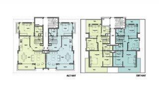 Maisonette Wohnungen mit Burg und Stadtblick in Alanya, Immobilienplaene-2