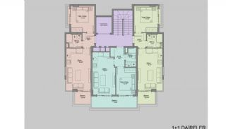 Nieuw gebouwde appartementen in het centrum van Oba, Vloer Plannen-1