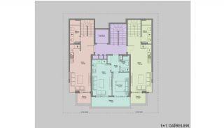Nieuw gebouwde appartementen in het centrum van Oba, Vloer Plannen-2