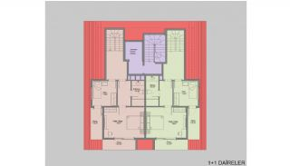 Nieuw gebouwde appartementen in het centrum van Oba, Vloer Plannen-3
