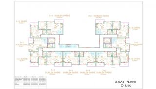 Brand New Apartments in Alanya Close to All Amenities, Property Plans-5