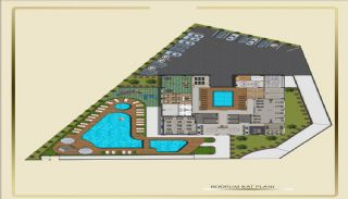 Sea View Real Estate with Hotel Facilities in Tosmur Alanya, Property Plans-1