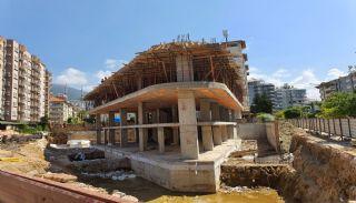 Alanya Merkezde Damlataş'a Yakın Satılık Lüks Daireler, İnşaat Fotoğrafları-2