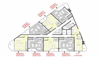 Luxury Flats for Sale Close to Damlataş in Alanya, Property Plans-2