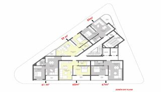 Luxury Flats for Sale Close to Damlataş in Alanya, Property Plans-4