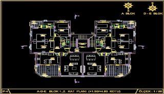 Centralt belägna lyxiga lägenheter att köpa i Alanya Oba, Planritningar-1