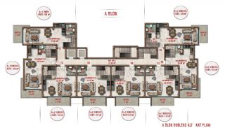 Sea and City View Luxurious Apartments in Alanya Avsallar, Property Plans-1