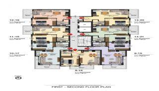 Lyxiga Alanya lägenheter inom gångavstånd till stranden, Planritningar-1