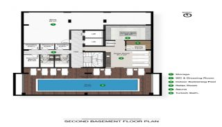 Роскошные Квартиры в Алании в Шаговой Доступности от Пляжа, Планировка -3