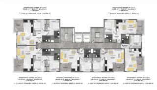 Appartementen dicht bij de zee in het centrum van Mahmutlar, Vloer Plannen-1