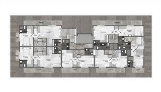 Appartementen dicht bij de zee in het centrum van Mahmutlar, Vloer Plannen-2