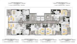 Appartementen dicht bij de zee in het centrum van Mahmutlar, Vloer Plannen-3