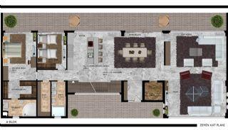 Alanya Kargıcak'ta Deniz ve Dağ Manzaralı Lüks Villalar, Kat Planları-1