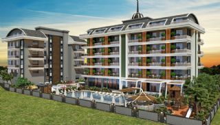 Lägenheter av hög kvalitet i ett lyxigt komplex i Alanya, Alanya / Oba