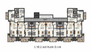 Lägenheter av hög kvalitet i ett lyxigt komplex i Alanya, Planritningar-1