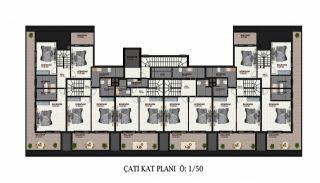 Lägenheter av hög kvalitet i ett lyxigt komplex i Alanya, Planritningar-2