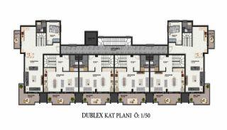 Первоклассные Апартаменты в Элитном Комплексе в Алании, Планировка -3