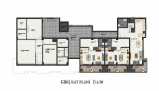 Lägenheter av hög kvalitet i ett lyxigt komplex i Alanya, Planritningar-4
