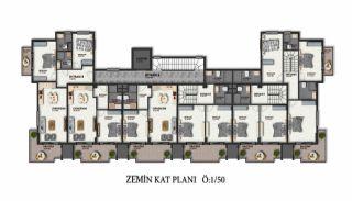 Первоклассные Апартаменты в Элитном Комплексе в Алании, Планировка -5