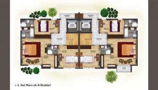 فلل شبه منفصلة بتصميم عصري في أنطاليا كونيالتي, مخططات العقار-3