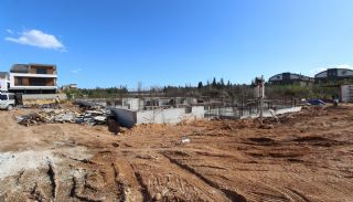 Nouvelles Villas Mitoyennes Avec Piscine Privée à Antalya,  Photos de Construction-1