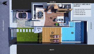 Modern gestaltete Doppelhaushälften in Antalya Kundu, Immobilienplaene-1