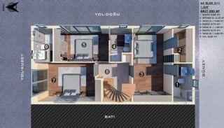 Modern gestaltete Doppelhaushälften in Antalya Kundu, Immobilienplaene-11