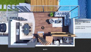 Modern gestaltete Doppelhaushälften in Antalya Kundu, Immobilienplaene-12