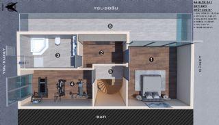 Modern gestaltete Doppelhaushälften in Antalya Kundu, Immobilienplaene-13