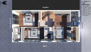 Modern gestaltete Doppelhaushälften in Antalya Kundu, Immobilienplaene-2