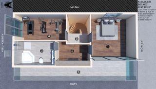Modern gestaltete Doppelhaushälften in Antalya Kundu, Immobilienplaene-3