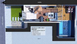 Modern gestaltete Doppelhaushälften in Antalya Kundu, Immobilienplaene-4