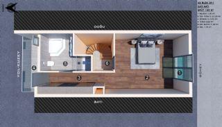 Modern gestaltete Doppelhaushälften in Antalya Kundu, Immobilienplaene-6