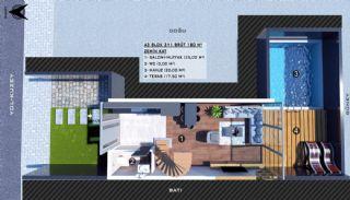 Modern gestaltete Doppelhaushälften in Antalya Kundu, Immobilienplaene-7