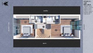 Modern gestaltete Doppelhaushälften in Antalya Kundu, Immobilienplaene-8
