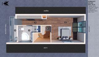 Modern gestaltete Doppelhaushälften in Antalya Kundu, Immobilienplaene-9