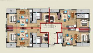 Gloednieuwe woning in een complex met zwembad in Antalya, Vloer Plannen-1